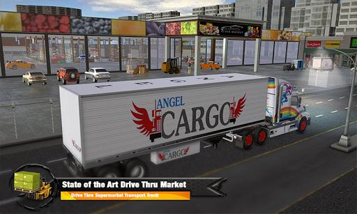 Supermarket Cargo Transport Truck Driving Sim 2019  screenshots 4