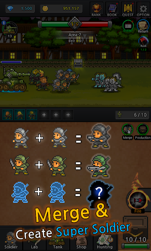 Grow Soldier - Idle Merge game 3.7.0 screenshots 2
