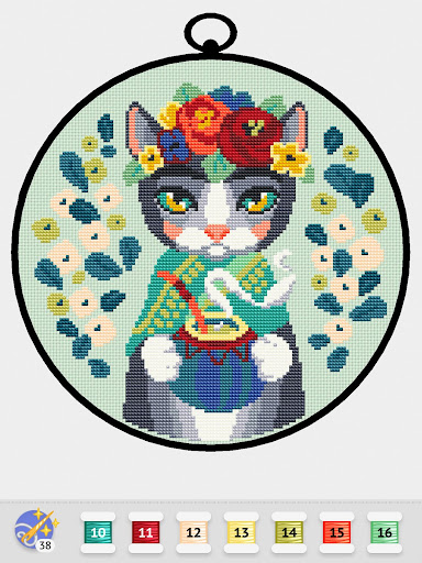 Cross Stitch Club u2014 Color by Numbers with a Hoop 1.4.32 screenshots 15