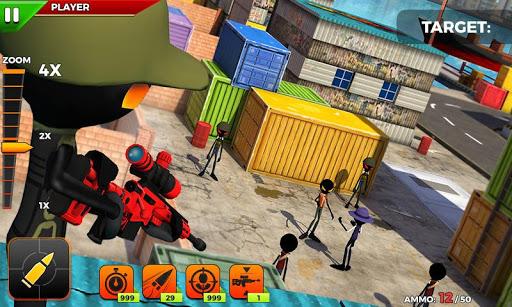 stickman battle : online shooter 3d screenshot 3