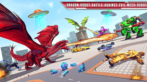 Royal Lion Robot Games- Dragon Robot Transform War  screenshots 7