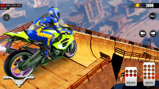 Impossible Mega Ramp Moto Bike Rider Stunts Racing  screenshots 2
