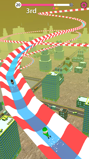 Aqua Path Slide Water Park Race 3D Game  screenshots 9