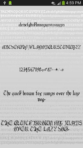 gothic fonts for flipfont screenshot 3