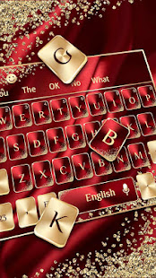 Red Gold Luxury Keyboard