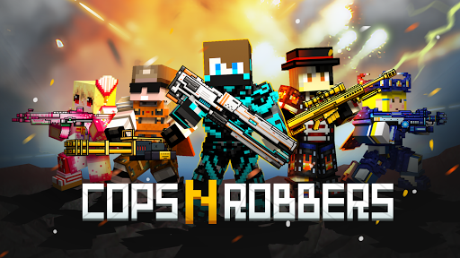 Cops N Robbers - 3D Pixel Craft Gun Shooting Games goodtube screenshots 1