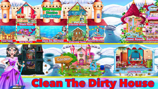 Winter Princess Big House Cleaning- Home Cleaning 1.1 screenshots 1