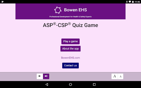ASP®-CSP® Quiz Game by Bowen EHS