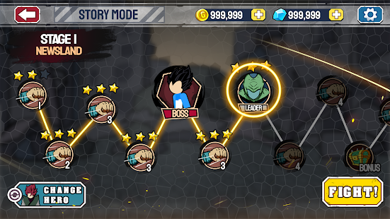 Stickman Warriors - Super Dragon Shadow Fight Screenshot