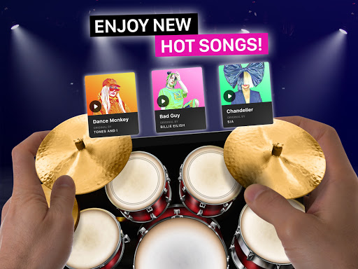 Drums: real drum set music games to play and learn apktram screenshots 6