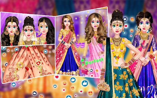 Indian Stylist Bride Dress up & Makeup Beauty Game screenshots 14