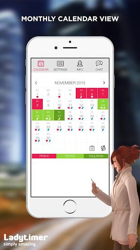 Ladytimer Ovulation & Period Calendar android2mod screenshots 5