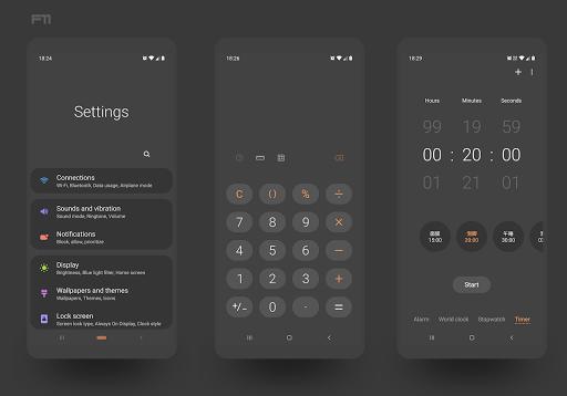 PitchBlack S - Samsung Substratum Theme Oreo/OneUI screen 1