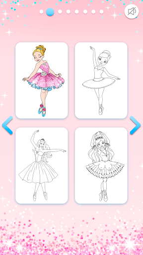 Ballerina Coloring Book Glitter - Girl Games apkpoly screenshots 3