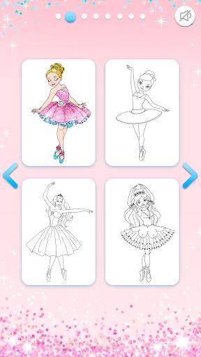 Ballerina Coloring Book Glitter - Girl Games 1.0.4.1 screenshots 3