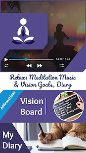 Relax: Meditation Music & Vision Goals, Diary