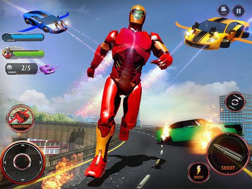 Flying Robot Car Games - Robot Shooting Games 2020 2.1 screenshots 7