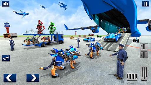 US Police Tiger Robot Car Game screenshots 12