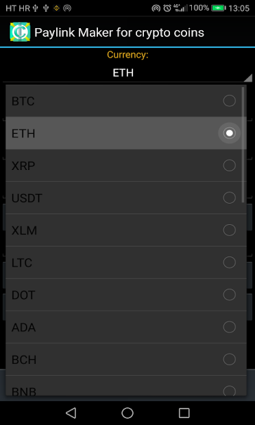 PayLink Maker for crypto currency coins screenshot 22
