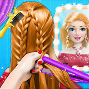 Braided Hairstyle Salon: Make Up And Dress Up