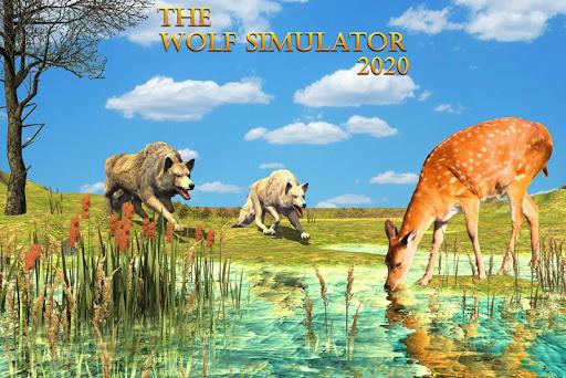 Wolf Simulator 2020: Animal Family Sim Games apkmartins screenshots 1