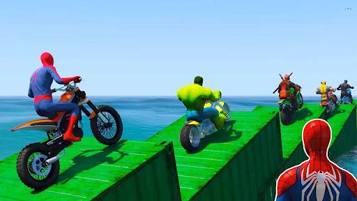 Superhero Tricky Bike Stunt GT Racing  screenshots 10