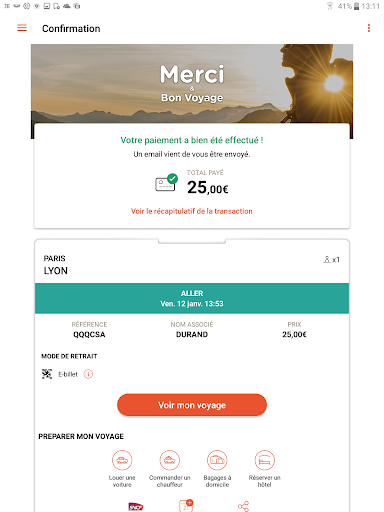 Oui.sncf : Cheap Train & Bus tickets for France 81.04 Screenshots 7