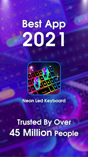 Neon LED Keyboard - RGB Lighting Colors android2mod screenshots 8