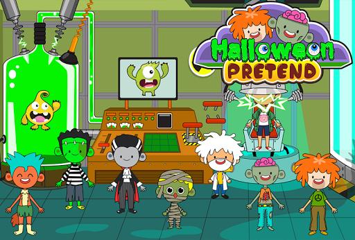 My Pretend Halloween - Trick or Treat Town Friends Apkfinish screenshots 3