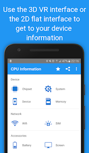 CPU Information Pro : Your Device Info in 3D VR Screenshot