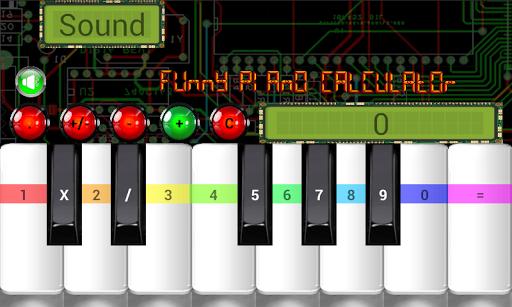 funny piano calculator screenshot 1