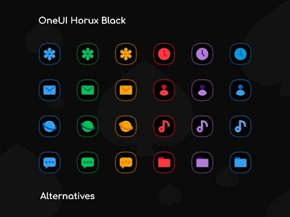 OneUI Horux Black APK- Icon Pack (PAID) Download Latest 9
