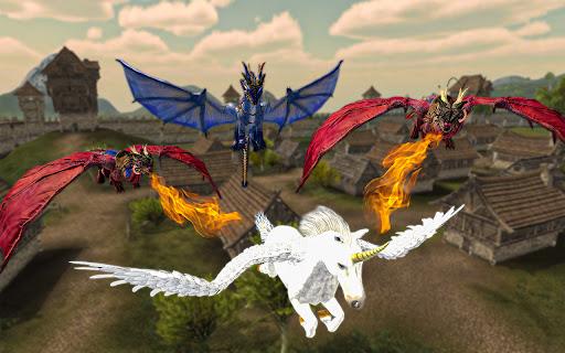 Flying Horse Simulator 2021 – Baby Unicorn Games  screenshots 1