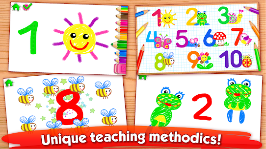 123 Draw🎨 Toddler counting for kids Drawing games 2