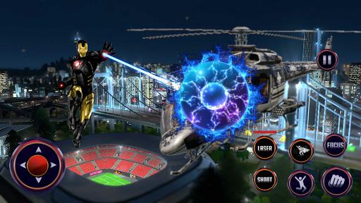 Robot Rope Hero - Firestorm Superhero Crime City android2mod screenshots 2