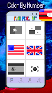 Flag Coloring Color By Number:PixelArt