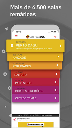 Bate-Papo UOL: Chat de paquera e vu00eddeo ao vivo 4.15.0 Screenshots 4