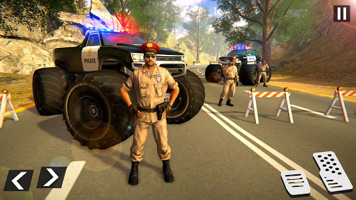 US Police Monster Truck Gangster Car Chase Games  screenshots 5