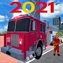 911 Fire Truck Car Game: Fire Truck Games 2021
