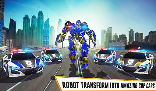 US Police Car Real Robot Transform: Robot Car Game android2mod screenshots 24