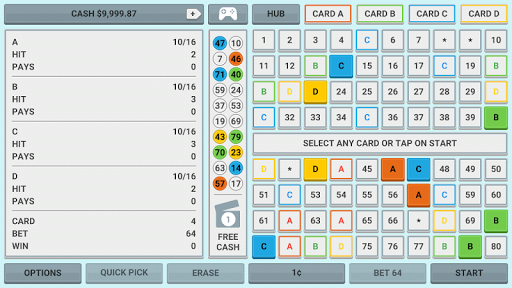 Colorful Keno: Las Vegas Casino Keno 4 Card Keno 1.7 screenshots 1