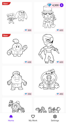 Coloring Pages for Brawl BS  screenshots 4