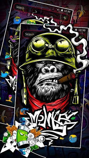 Monkey Graffiti Theme 1.1.3 screenshots 3