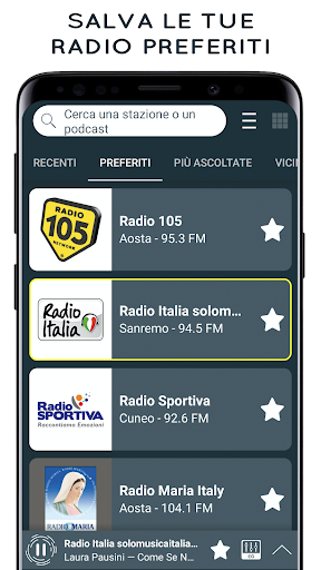 Radio Italia: Online Radio Streaming screenshots 3