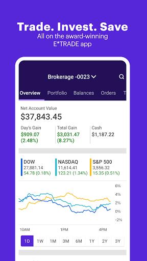 E*TRADE: Invest. Trade. Save.  screenshots 1