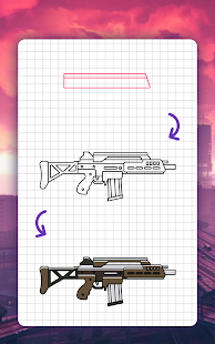 How to draw weapons. Step by step drawing lessons