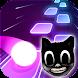 Cartoon cat - Hop round tiles edm rush