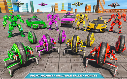 Drone Robot Car Driving - Spider Wheel Robot Game  screenshots 6