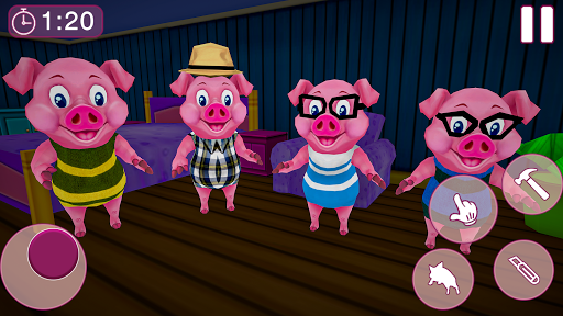 Piggy Family 3D: Scary Neighbor Obby House Escape apkpoly screenshots 5