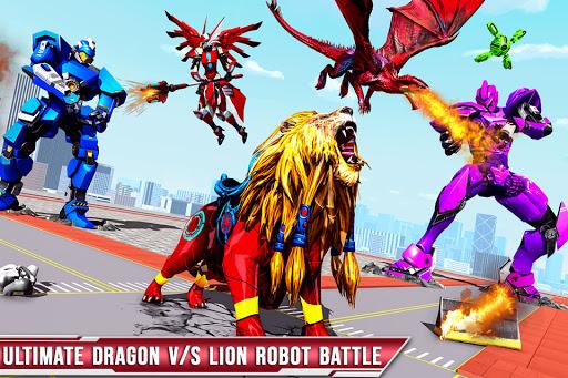 Royal Lion Robot Games- Dragon Robot Transform War  screenshots 5